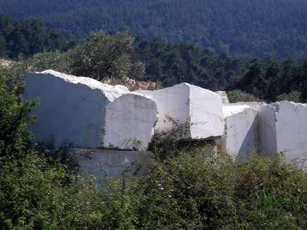 Thassos has some of the best marble in the world