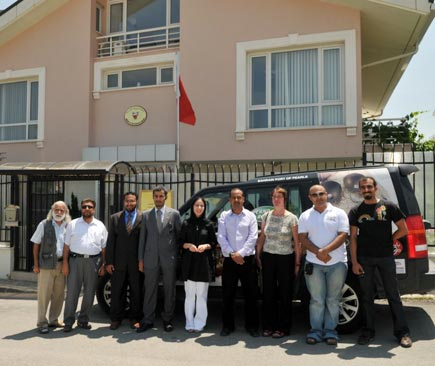 The team with Bahrain embassy officials