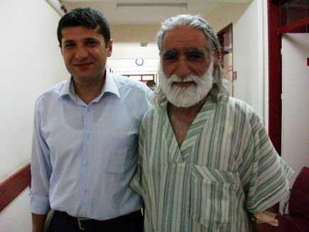 Haider, right, with Dr Sinan Alkinis