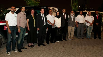 The team with Bahraini Embassy officials