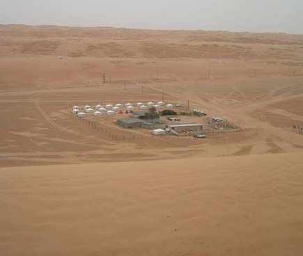Bedouin camp in Wahiba Sands