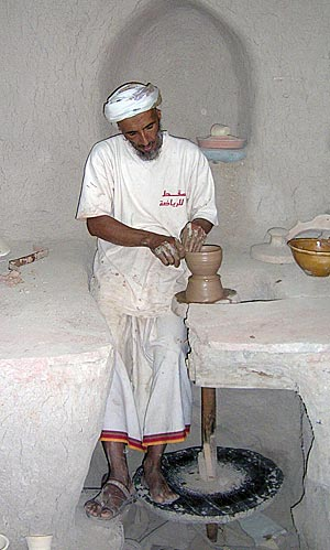 Potter Saeed at work