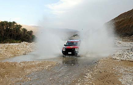 Wadi bashing at Wadi Absan