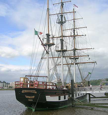 A replica of the 19th century ship that brought many Irish families to America during the Great Famine of the 1800s
