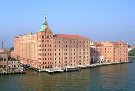 The Hilton Molino Stucky Venice is a city landmark