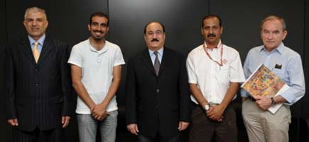 At the Bahrain embassy with Mr. Ghaffar and Mr. Ebrahim Abdulla