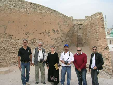 The Friendship Tour team at Tarut Fort