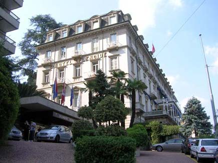 The hotel I am staying at, the Splendide Royal in Lugano