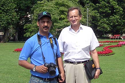 With my tour guide Peter Knapp